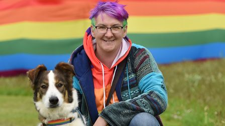 The Stody Rainbow Garden Party returns for 2021.Kerry Davis and her dogs, George and Pegasus.Bylin