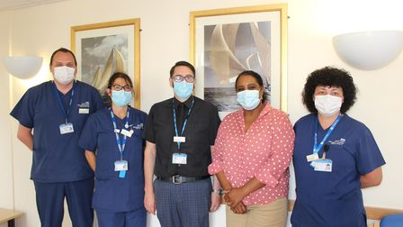 The endoscopy team at James Paget hospital in Gorleston