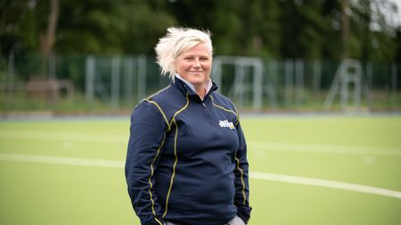 Vic Clements on Ipswich Hockey Club's new pitch. Picture: Sarah Lucy Brown