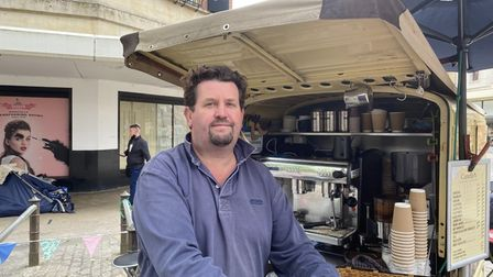 Brian Wells, owner of Carrello's coffee stall in Norwich