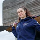 Kimberley Woods at British Canoeing Hummel kitting out day at Lee Valley on the 21st April 2021