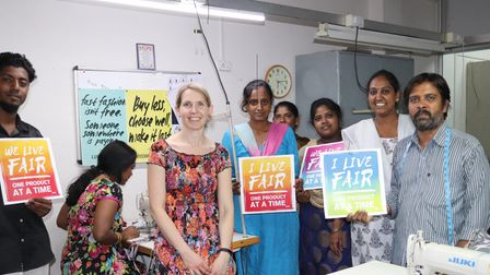 A trip to India in 2007 inspired Jenny to create a brand that would give back to the workers in India.