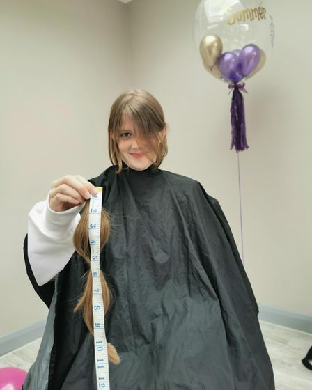 Summer Brocklebank has cut 12 inches off her hair.