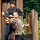 Action from Macbeth at Lytham Hall, the first in a series of outdoor productions there this summer