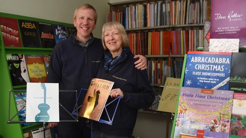 Anne and Chris Duarte at the St George's Music Shop which they have been running for 30 years. Pictu