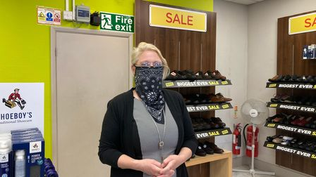 Manager of Ipswich Shuropody Sonia Lovett hopes Upper Brook Street is paved over