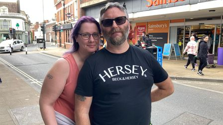 Couple Simon and Stacey Miller walked into Ipswich town centre as it was a nice day