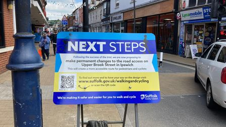 Suffolk County is advertising the consultation on whether to close Upper Brook Street permanently