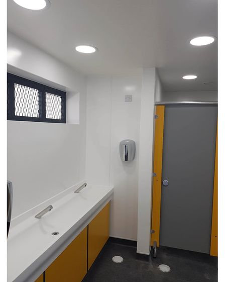 After the refurbishment work had been completed on Lowestoft seafront toilets last summer.