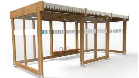 An artist impression ofwhat the waiting shelters could look like at Salhouse