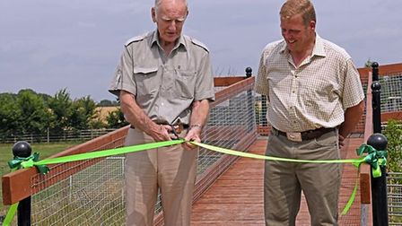 The opening of the reptile centre