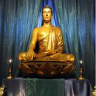 SUFFOLK MAG PHOTO SU ANDERSON 21-12-11 A large statue of Buddha sits in the Shrine Room at the Ips
