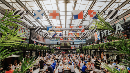 Boxpark's venue in Wembley has been screening Euro 2020 matches.