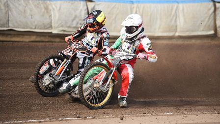 Simon Lambert's Testimonial meeting at the Adrian Flux Arena. Pictured are (4) Sam Masters and Danny