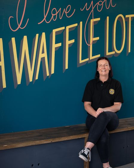 Tracy Richer, owner of The Waffle Shack at Beach Street. Picture: Sarah Lucy Brown