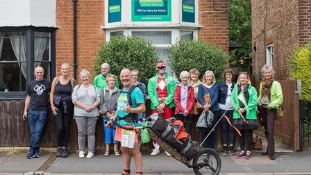 David Matthews was welcomed by Samaritans volunteers at the Hitchin branch yesterday (June 22)