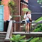 Two girls hug as they celebrate their A Level exam results at Brighton College in Brighton, East Sus
