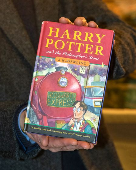Hardback first issue of Harry Potter and the Philospher's Stone, sold for £68,000