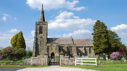 Mackworth Church, burned down by vandals last year, is described by Charles as 'the heartland... of our county'