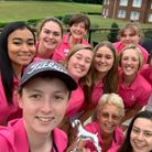 The Herts Golf women's squad celebrate their win.