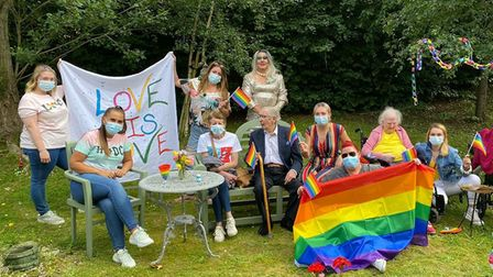 Roebuck Nursing Home in Stevenage put on their first ever Pride event yesterday (June 23)