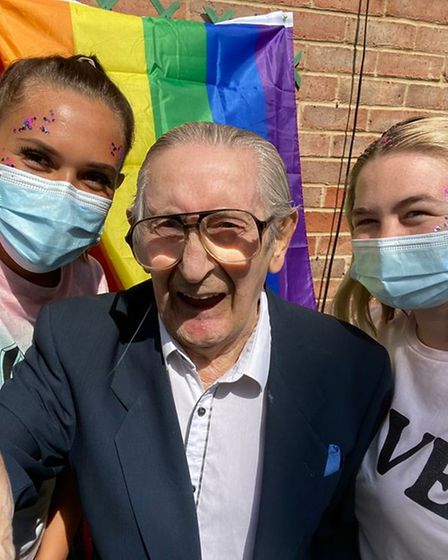 Staff and residents at Roebuck Nursing Home in Stevenage went all out to celebrate their first ever Pride