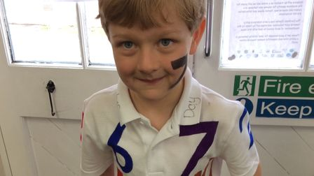 McKenzie from Year One dressed upfor Dereham Church Infant and Nursery School's 'number day'.