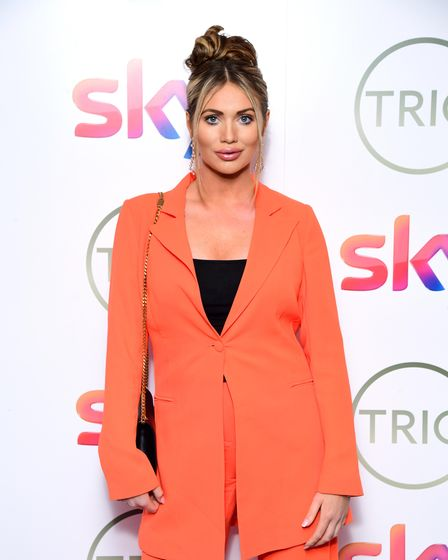 Amy Childs attending the TRIC Awards 2020 held at the Grosvenor Hotel, London.