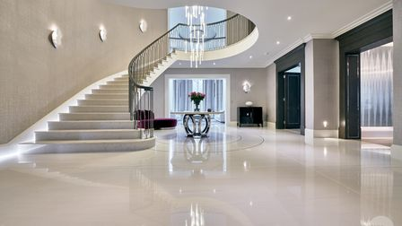 Stone staircase cut and designed by stoneCIRCLE in Basingstoke