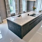 neuttral contemporary stone kitchen designed by stoneCIRCLE in Basingtoke