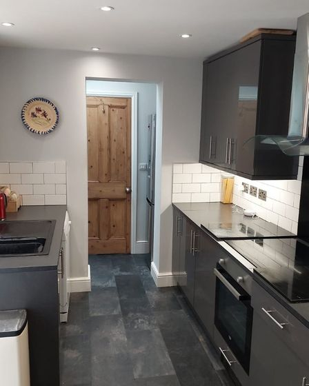 The homes new kitchen has been finished to a very high standard