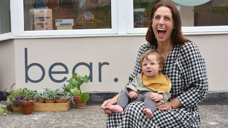 Bryony Fayers' new shop Bear is inspired by her children, she is pictured with her youngest son Laurie.