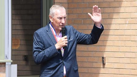 Terry Butcher at Red Oak Primary School in Lowestoft.
