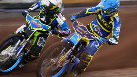 Witches guest Nick Morris outside Kyle Howarth in the opening heat.