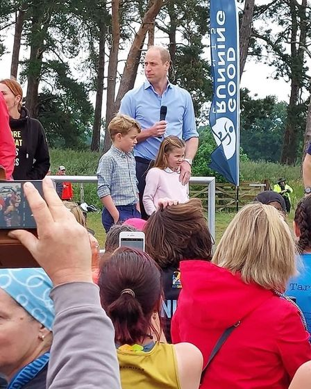 Prince William and family at the start of the Norfolk Half