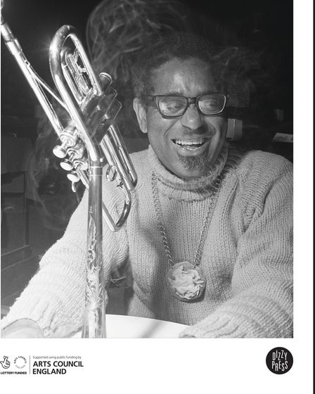 The back cover of Joe's book features American jazz trumpeter and band leaderDizzy Gillespie.