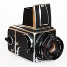 Standard 1982 model Haselblad 500C/M with A12 film back and 80mm f2.8 Zeiss Planar lens