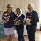 Marion Goodwill, Angela Boon and Linda Harrison of St Ives Golf Club