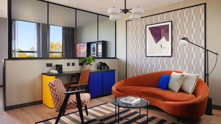 The deluxe rooms at Malmaison have bold contemporary furnishings