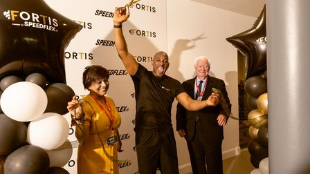 Dion Dublin, Cllr Viddy Persuad and Cllr Roger Ramsey