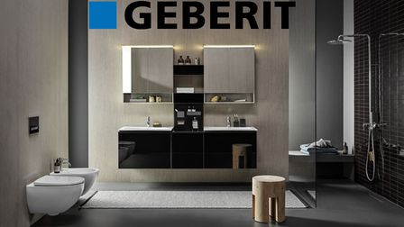 Wall hung toilet and concealed cabinets from Geberit on sale at ColeRoberts in Loughborough