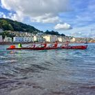 The Exmouth Rowing Club crew at the South West Coastal League meeting held at Teignmouth. Picture CO