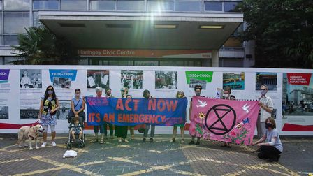 XR campaigners outside Haringey Civic Centre
