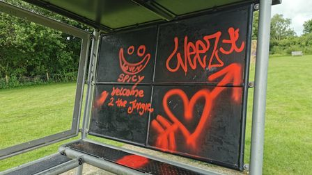 More graffiti has appeared on Cawston playing field
