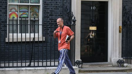 Number 10 Downing Street special advisor Dominic Cummings leaves 10 Downing Street. (Photo by ISABEL
