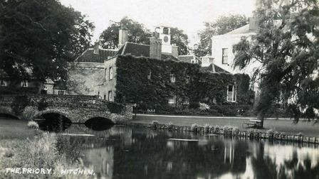 A postcard of The Priory in Hitchin