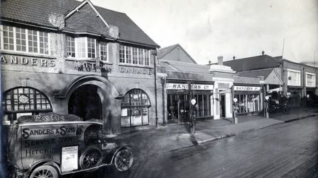 The Sanders building in Walsworth Road, Hitchin