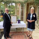 Gary Hyams, chief executive of Support 4 Sight and Jennifer Tolhurst, Her Majesty's Lord-Lieutenant