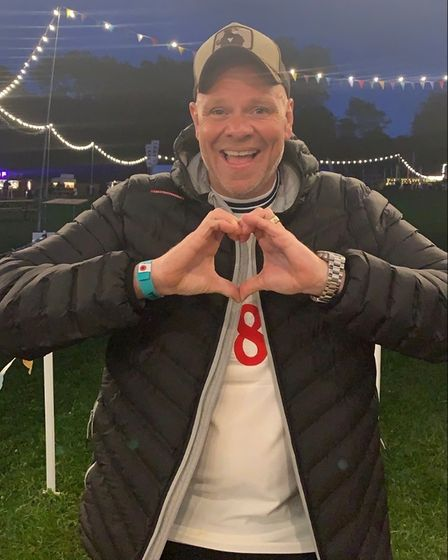 Tom Kerridge at the opening night of the Pub in the Park tour.