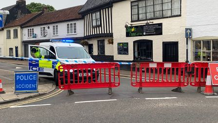 A man has died in a fire in Damgate Street, Wymondham. Picture: Ben Hardy